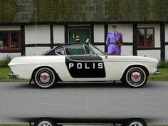 """Photoshop"" Volvo S Police Car. Police Cars, Police Vehicles, Volvo P1800s, Automobile, Volvo Amazon, Good Looking Cars, Car Badges, Classy Cars, Futuristic Cars"
