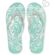 534c0d2a2423 Aeropostale LLD Tiger Flip-Flop ( 10) ❤ liked on Polyvore featuring shoes