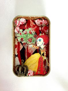 Queen of Hearts Altered Altoid Tin by ThePinkRhino on Etsy