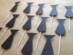 12 Neck Tie Cupcake Toppers  Black by DarlingWednesday on Etsy, $5.50