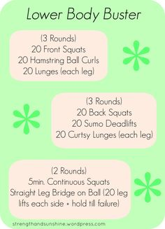 Power Monday #1 Lower Body Buster