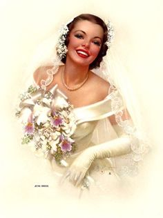 Just a pretty vintage bride.