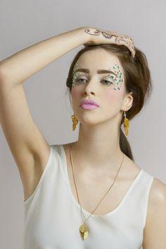 Hot House Leaves Triple Earrings - Gold (£35.00)