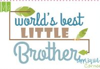 Worldds Best Little Brother Applique Corner