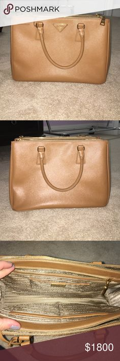 Prada Saffiano Medium Double Zip Tote Excellent condition Prada Bags Totes