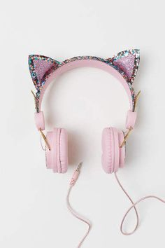 On-ear Headphones - Dark pink/cat - Kids Cute Headphones, Crown Headphones, Wireless Headphones, Accessoires Iphone, Pink Cat, Cute Cars, Craft Stick Crafts, Cute Jewelry, Girly Things
