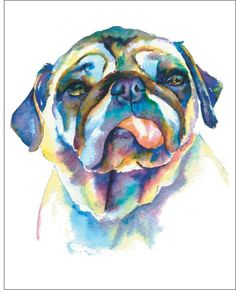 345f4fd53253 Pug Watercolor Art - I sell prints of these on Etsy, Fine Art America &  Ebay - or just email me! I also do CUSTOM paintings! www.christystudios.com