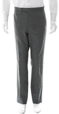 Thom Browne Wool Straight-Leg Pants Mens Dress Pants, Wool Pants, Thom Browne, Straight Leg Pants, Stylish, Grey, Tops, Fashion, Gray