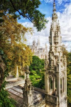 The Palace Of Mystery: My Pictures Of Quinta Da Regaleira by Taylor Moore at Sintra, Portugal Regaleira Steeple Sintra Portugal, Ericeira Portugal, Visit Portugal, Portugal Travel, Spain And Portugal, Places Around The World, The Places Youll Go, Places To See, Around The Worlds