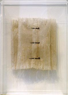 Melinda Le Guay, 'Untitled' 2006, paper, fabric , thread, thorns, pins, beads, perspex, 50 x 35 x 8cm