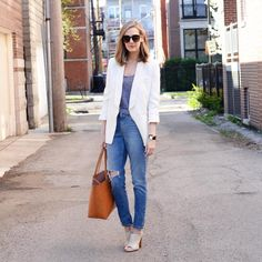 "538 Likes, 3 Comments - Anna Jane Wisniewski (@seeannajane) on Instagram: ""Mom jeans..on a mom. http://liketk.it/2qMEP #liketkit @liketoknow.it #workingmom #momstyle"""