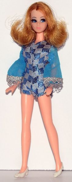 Topper Dawn Doll - Rare Strawberry Blonde, Connie Hair, Blue Diamond Hot Pants!! #Topper #DollswithClothingAccessories