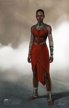 Artist Keith Christensen has shared some of his fantastic work from Marvel's Black Panther with us and we thought you would want to take a look! Check out concept designs for Nakia, T'Challa, Zuri & more. Black Panther Marvel, Black Panther Art, Nakia Black Panther, Black Women Art, Beautiful Black Women, Black Art, Black Pantha, Black Panther Costume, Black Characters