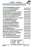 #4 #Faelle #Training Arbeitsblätter / Übungen / Aufgaben für den #Grammatik- und Deutschunterricht - Grundschule.  Es handelt sich um 105 Sätze, die auf 5 Arbeitsblätter verteilt sind. In jedem Satz den richtigen Fall des fettgedruckten #Satzgliedes bestimmen. #Wortschatz 4.Klasse.  5 Arbeitsblätter + 5 #Lösungsblätter