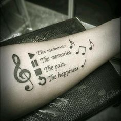 I sort of wanna get this on my left forearm but smaller and with all the music notes.