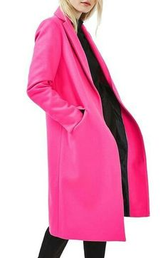 Discover the latest in women's fashion and new season trends at Topshop. Shop must-have dresses, coats, shoes and more. Cute Winter Coats, Cool Coats, Winter Trends, Trends 2018, Pink Wool Coat, Pink Coats, Mode Mantel, Topshop, Casual Elegance