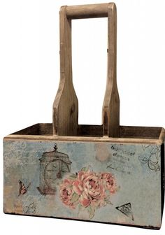 Shabby Chic Vintage Rose Triple Storage Tidy a beautiful solid wood storage caddy for storing items around the home with vintage applique print Stylish Storage, Vintage Roses, Vintage House, Decorative Storage Boxes, Vintage Home Decor, Decorative Storage, Vintage, Vintage Chic, Shabby Chic