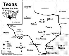 Map Of Texas Quiz.Texas Map Quiz Printout