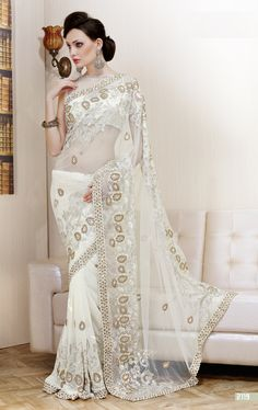 Off White Color Saree