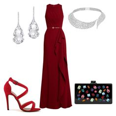 """Без названия #1578"" by svetlana-kazantsewa on Polyvore featuring мода, Elie Saab, Messika, Plukka и Edie Parker"
