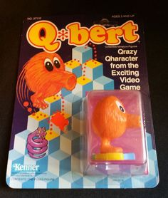 A small action figure of Q*bert (by Kenner) from the 1982 arcade game of the same name