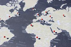 World Push Pin Map, Travel Map, Travel Board, Map Poster, Wedding - Anniversary Gift  #World-001