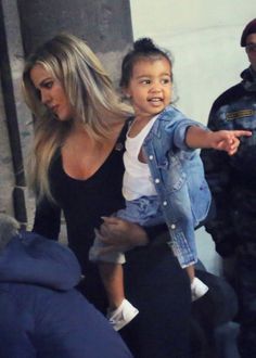 Khloe Kardashian and North West