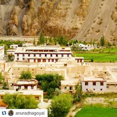 #Repost @anuradhagoyal with @repostapp  Follow back for travel inspiration and tag your post with #talestreet to get featured.  Join our community of travelers and share your travel experiences with fellow travelers atHttp://talestreet.com  Tabo town surrounding the mud #monastery in the lap of #Himalayas. #Tabo is one of the many small Himalayan villages in #spitivalley of #himachalpradesh and has #caves #rockcarving and this #mud #structure with ancient #wallmurals depicting the stories of…