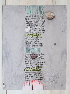 I'm little/a lot obsessing over this journal scrapbook page from A beautiful Mess. So creative!