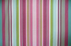 Pink green blue - Striped Fabrics | Stripe Cotton Fabrics | Striped Curtain Fabrics | Upholstery Fabrics