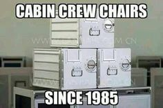 Please grab a chair! :P #cabincrew #flightattendant #crewlife #iheartcabincrew || Repin! Share! ✈️ www.iheartcabincrew.com
