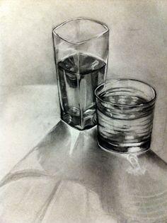 #Charcoal Glasses by HiyaJinxx - #Drawing