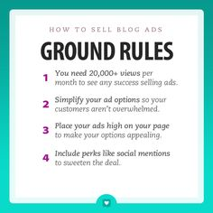 How to Sell Blog Ads