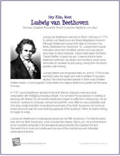 Ludwig van Beethoven | Printable Biography -