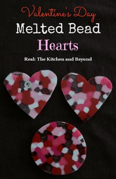 Valentine's Day Craft for Kids: Melted Bead Hearts