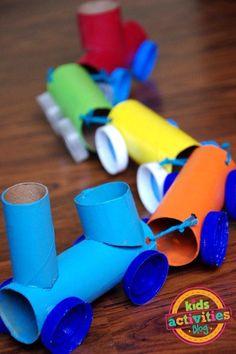 TOILET PAPER ROLL TRAIN CRAFT - Kids Activities