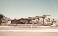 Hier beginnt die Architekturführung in Palm Springs: An der Retro-Tankstelle AM.: