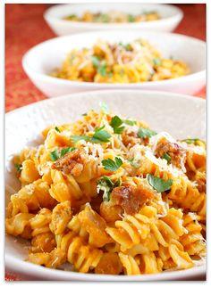Creamy Pumpkin Pasta with Sweet Italian Sausage