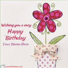 Wishing You A Happy Birthday Name Card
