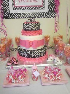 Pinterest pink zebra for baby shower | Pink & Zebra Baby Shower | Birthday Party Ideas