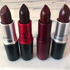 mac, lipstick, and makeup image Gorgeous Makeup, Love Makeup, Beauty Makeup, Makeup Stuff, Makeup Products, Beauty Products, Dark Lipstick, Lipstick Colors, Lip Colors