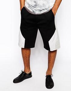 ASOS BLACK Panelled Shorts