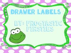 Cute drawer labels for your classroom!
