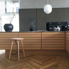 Fredericia - The Spine Stool by Space Copenhagen. Image from Multiform. Space Copenhagen, Kitchen Styling, Your Space, A Table, Interior Design, Stools, Chairs, Furniture, Architecture