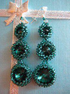 emerald Emerald, Jewelery, Beading, Crochet Earrings, Drop Earrings, Jewlery, Jewels, Beads, Jewerly