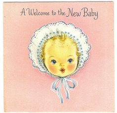 A Welcome To The New Baby card by Tommer G, via Flickr