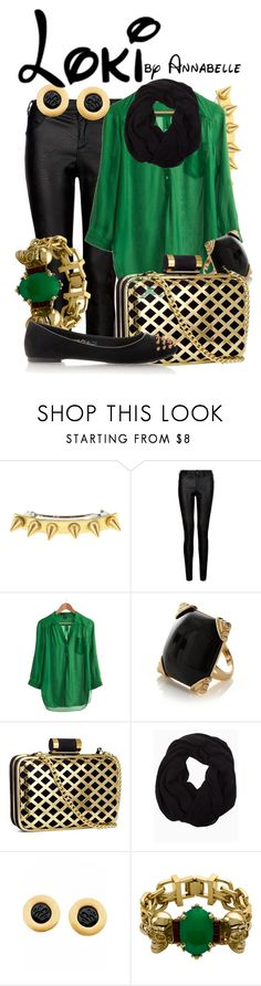 """Loki"" by annabelle-95 ❤ liked on Polyvore featuring Jennifer Behr, Look From London, H&M, Mawi and Timeless"