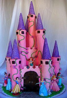 Pink & purple Princess Cake.