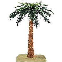Decorative Lighted Palm Tree For Valentine Faux Tropical Royal 7 Foot Pre Lit Ping