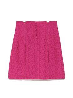 お花ジャガードタイトスカート(ミニスカート)|Lily Brown(リリーブラウン)|ファッション通販|ウサギオンライン公式通販サイト
